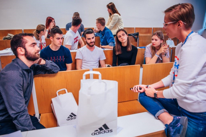 Workshop firmy adidas (Night of Chances Business 2018). Zdroj: Archív Night of Chances