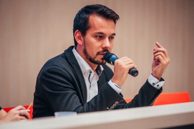 Juraj Šeliga, diskusia k téme korupcie (Night of Chances Business 2018). Zdroj: Archív Night of Chances